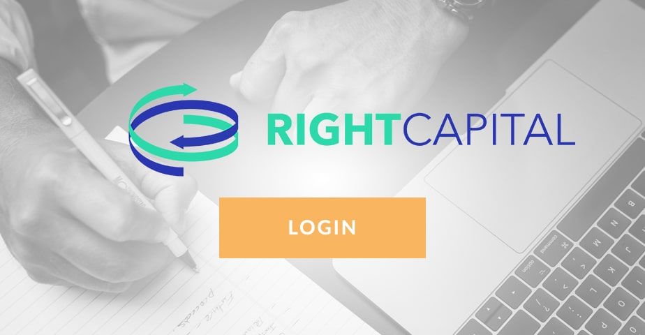 right capital client -  Access your accounts button